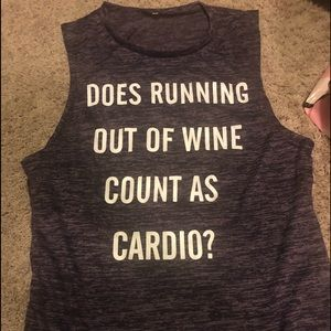 Tops - Does running out of wine count as cardio tank